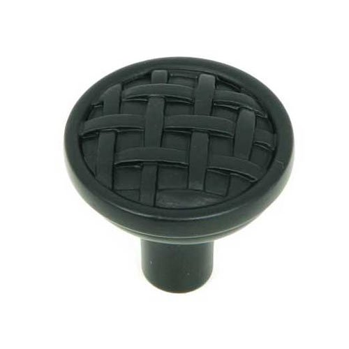 Stone Mill Hardware Sheffield 1-1/4 Inch Diameter Matte Black Cabinet Knob CP28-MB