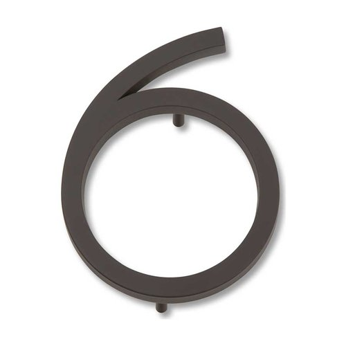 Atlas Homewares Modern Avalon House Number Six Aged Bronze AVN6-O