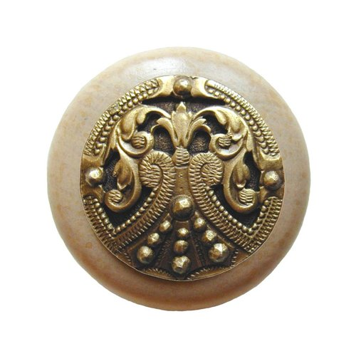 Notting Hill Olde Worlde 1-1/2 Inch Diameter Antique Brass Cabinet Knob NHW-701N-AB