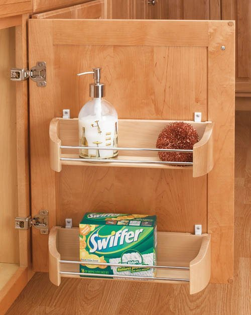 """Rev-A-Shelf Wood Door Storage Tray With Mounting Clips 20"""" 4231-20-52"""