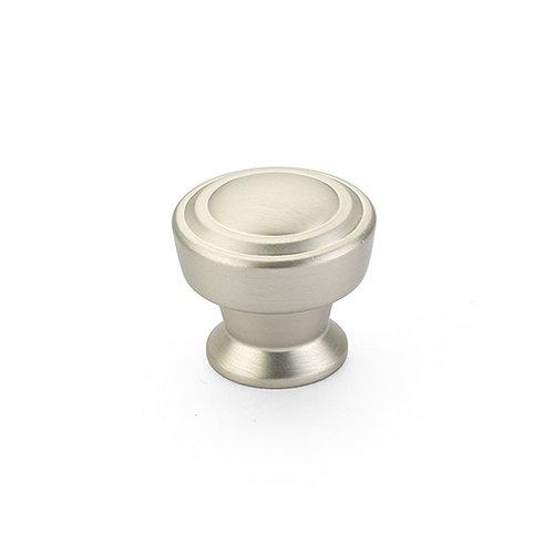 Schaub and Company Menlo Park 1-1/4 Inch Diameter Satin Nickel Cabinet Knob 533-15