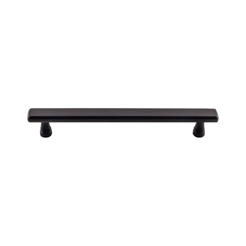 Top Knobs Devon Kingsbridge Pull 6-5/16 inch Center to Center Flat Black TK855BLK