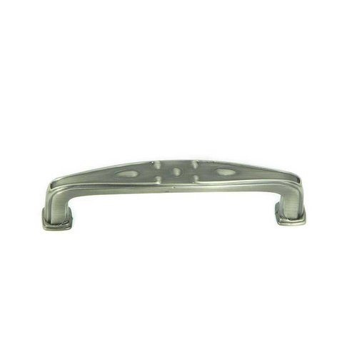 Stone Mill Hardware Milan 3-3/4 Inch Center to Center Weathered Nickel Cabinet Pull CP81094-WEN