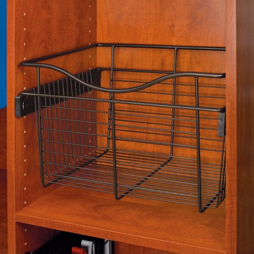 Pullout Wire Basket 18 inch W x 16 inch D x 11 inch H <small>(#CB-181611ORB)</small>