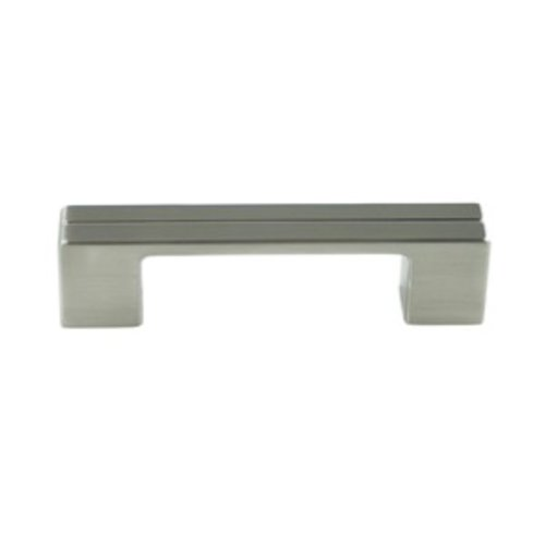 Berenson Skyline 3-3/4 Inch Center to Center Brushed Nickel Cabinet Pull 9200-1BPN-P
