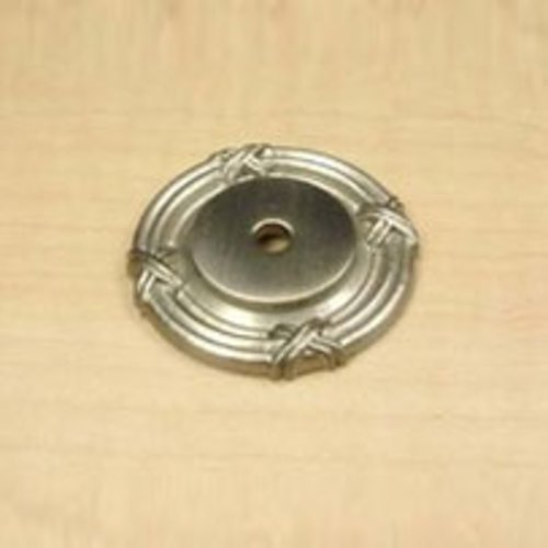 Century Hardware Georgian 1-1/2 Inch Diameter Matte Satin Nickel Back-plate 18069-MSN