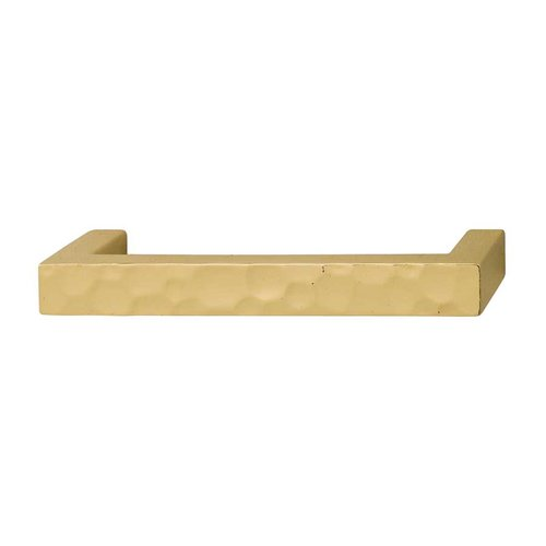 Hafele Bella Italiana 3-3/4 Inch Center to Center Polished Gold Cabinet Pull 108.57.801