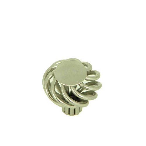 Stone Mill Hardware Sheffield 1-3/8 Inch Diameter Satin Nickel Cabinet Knob CP38-SN