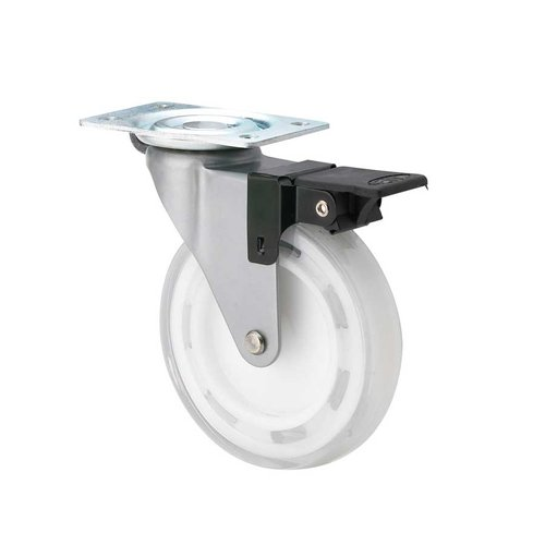 Richelieu Furniture Caster with Swivel and Brake - Clear White 47503010605