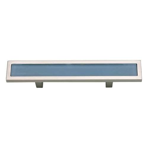 Spa 3 Inch Center to Center Brushed Nickel Cabinet Pull <small>(#231-BLU-BRN)</small>