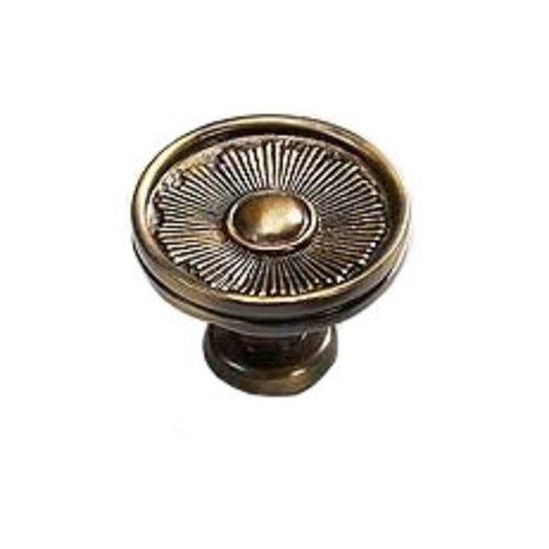 Schaub and Company Sunburst 1-3/8 Inch Diameter Estate Dover Cabinet Knob 972-ED