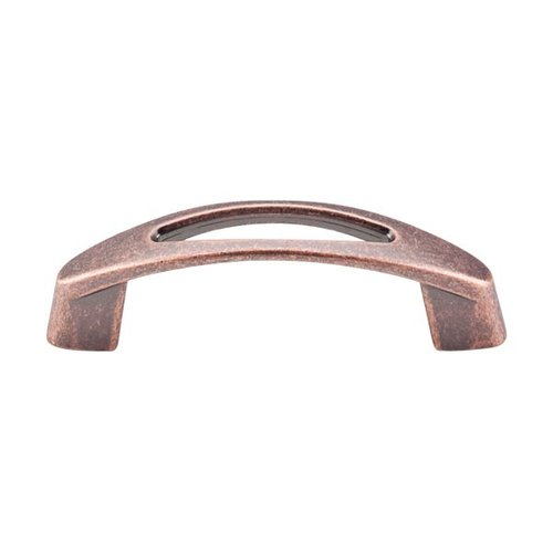 Nouveau 3 Inch Center to Center Antique Copper Cabinet Pull <small>(#M1768)</small>