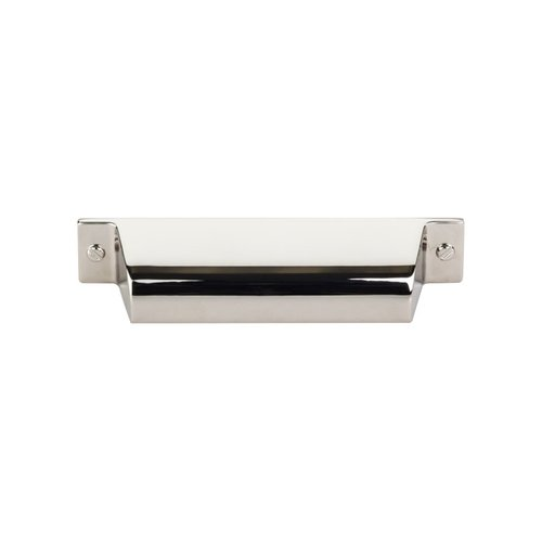 Top Knobs Barrington 3-3/4 Inch Center to Center Polished Nickel Cabinet Cup Pull TK773PN