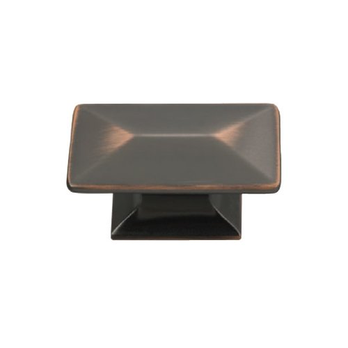 Hickory Hardware Bungalow 1-3/4 Inch Length Oil Rubbed Bronze Highlighted Cabinet Knob P2151-OBH