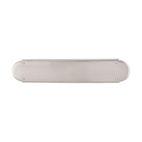 Top Knobs Appliance Pull 15 Inch Length Brushed Satin Nickel Back-plate M889