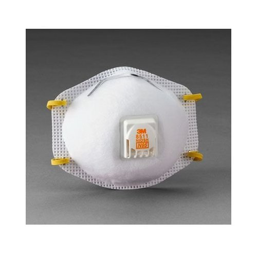 3M 8511 Particulate Respirator N95 with Exhalation Valve White 8511