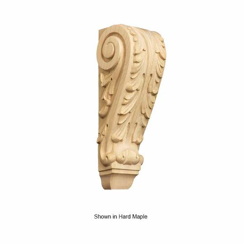 Brown Wood Small Acanthus Corbel Unfinished Paint Grade 01609003PT1