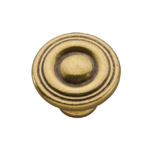 Hickory Hardware Conquest 1-1/8 Inch Diameter Lustre Brass Cabinet Knob P14402-LB
