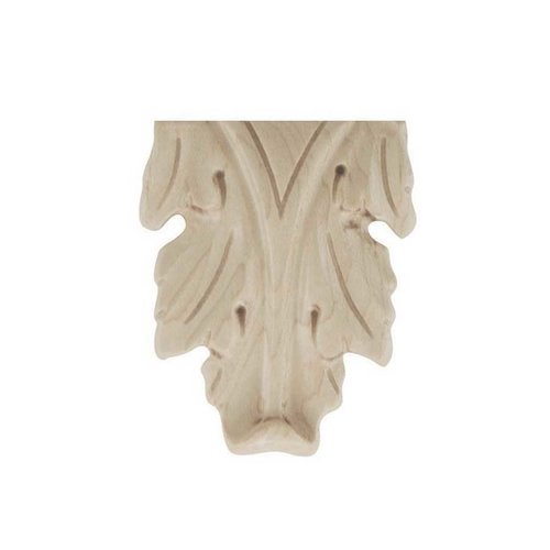 Brown Wood Small Acanthus Onlay Unfinished Hard Maple 01910123HM1