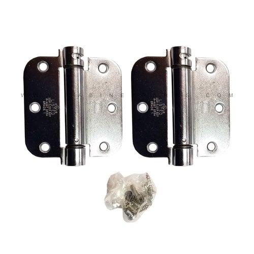 "Bommer Industries LB4312-350 5/8"" Radius Corner Single Act Spring Hinge-Chrome LB4312-350-652"