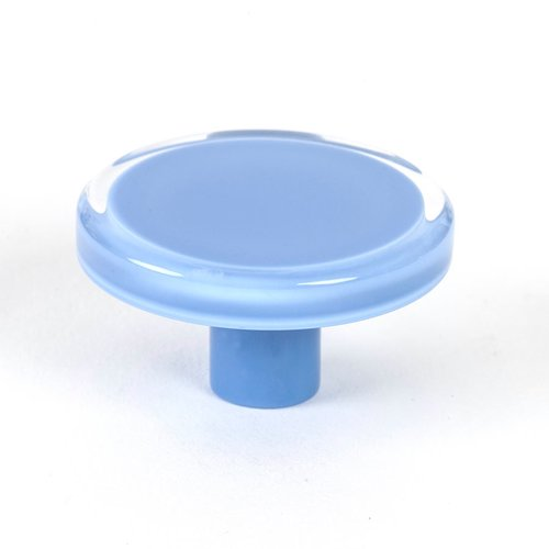 R. Christensen Next 2 Inch Diameter Blue Transparent Cabinet Knob 9787-7000-P
