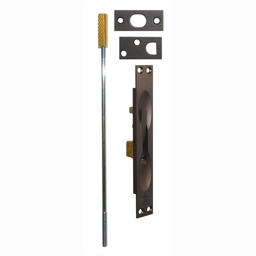 Don-Jo UL Rated Flush Bolt For Metal Doors Oil Rubbed Bronze 1555-613