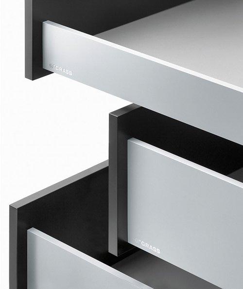 Grass Vionaro 18 inch Metal Drawer Side 7-1/4 inch H Silver Grey F135121506207