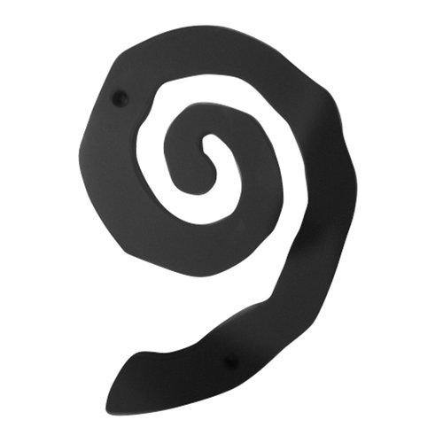 Atlas Homewares Large Scroll House Number Nine Matte Black SCN9L-BL