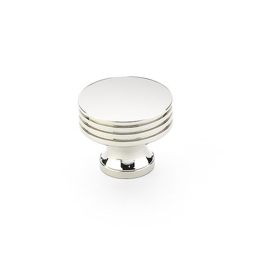 Schaub and Company Menlo Park 1-1/4 Inch Diameter Polished Nickel Cabinet Knob 532-PN