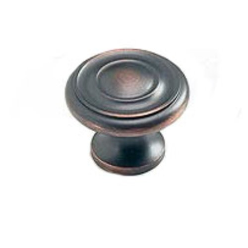 Schaub and Company Solid Brass Traditional Designs 1-1/4 Inch Diameter Michelangelo Bronze Cabinet Knob 703-MIBZ