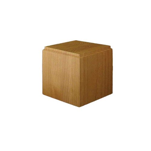 Brown Wood Large Square Bun Foot Unfinished Hard Maple 01705810HM1