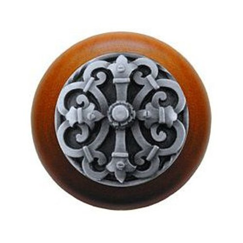 Notting Hill Olde World 1-1/2 Inch Diameter Antique Pewter Cabinet Knob NHW-776C-AP