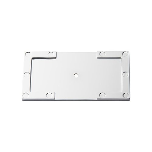 "Atlas Homewares Campaign L Bracket Backplate 3-11/16"" Long Polished Chrome 378-CH"