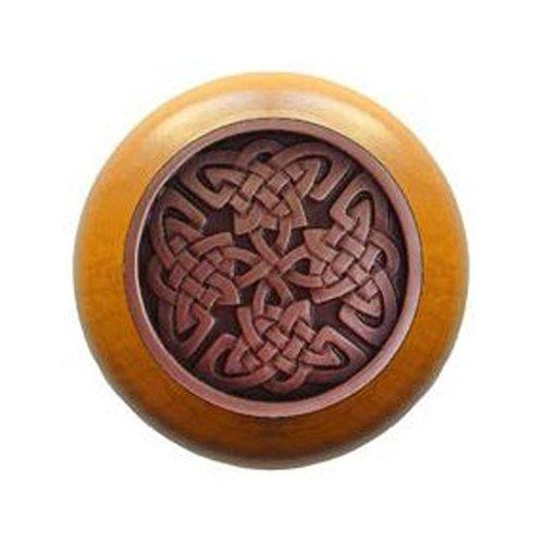 Notting Hill Jewel 1-1/2 Inch Diameter Antique Copper Cabinet Knob NHW-757M-AC
