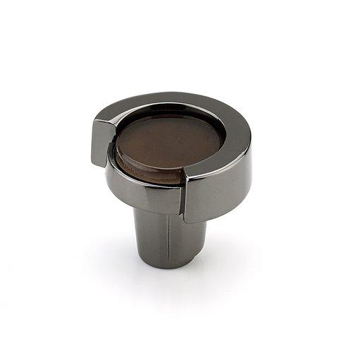 "Schaub and Company Tallmedge Round Knob 1-1/4"" Dia Black Nickel/Light Bronze 25-BN-LB"