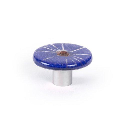 R. Christensen Radiants 1-7/8 Inch Diameter Dark Blue Cabinet Knob 9664-1000-C