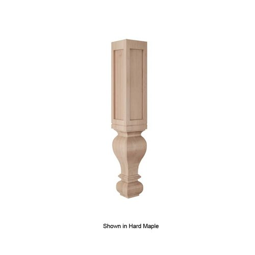 Brown Wood Large Routed Gaelic Column Unfinished Cherry 01590228CH1