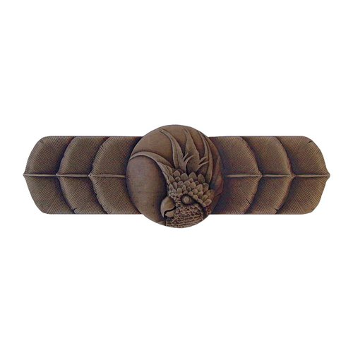 Notting Hill Tropical 3 Inch Center to Center Dark Brass Cabinet Pull NHP-326-DB-R