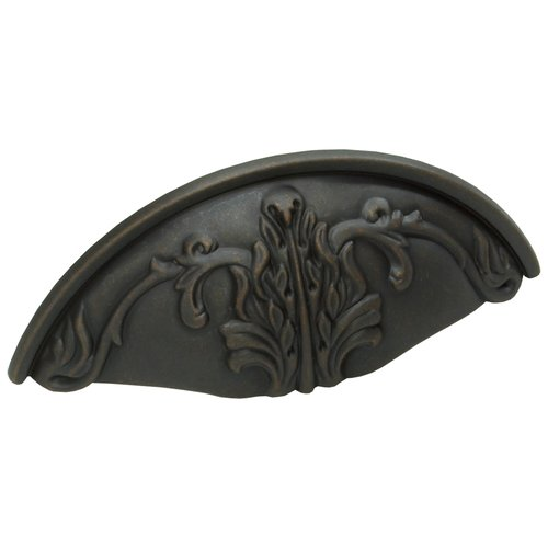 Schaub and Company Corinthian 3 Inch Center to Center Michelangelo Bronze Cabinet Cup Pull 872-MIBZ