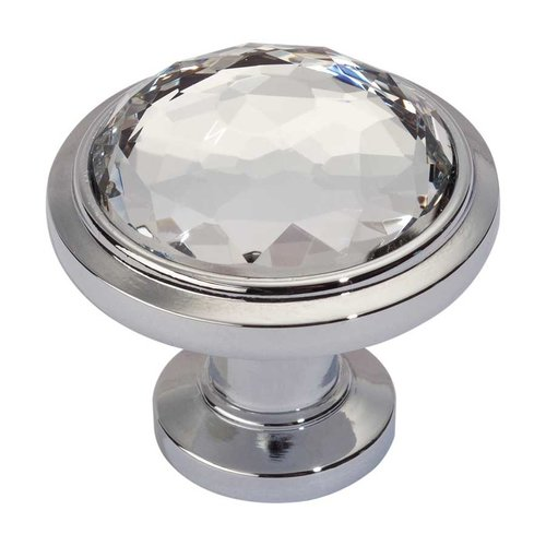 Atlas Homewares Legacy Crystal 1-5/16 Inch Diameter Polished Chrome Cabinet Knob 343-CH