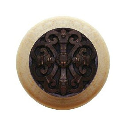 Notting Hill Olde World 1-1/2 Inch Diameter Dark Brass Cabinet Knob NHW-776N-DB