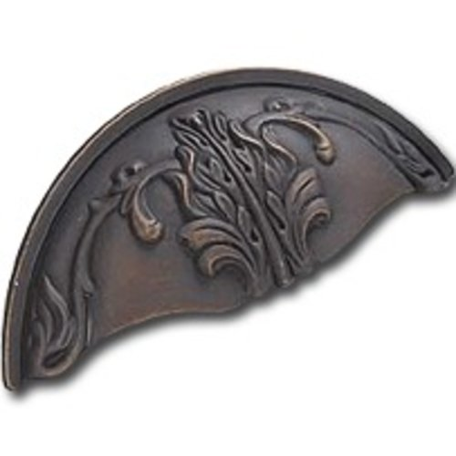 Schaub and Company Corinthian 3 Inch Center to Center Ancient Bronze Cabinet Cup Pull 872-ABZ