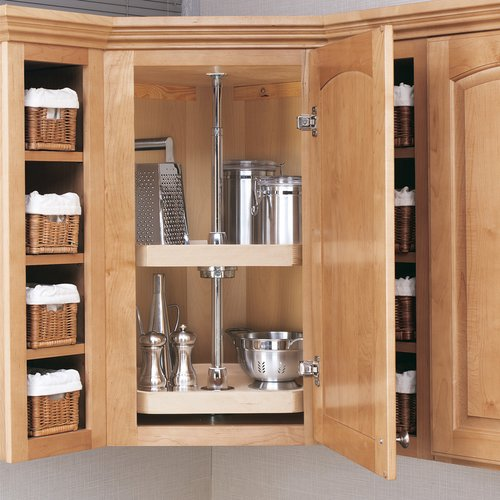"Rev-A-Shelf 4WLS 2-Shelf D Shape Wood 20"" 4WLS272-20-52"