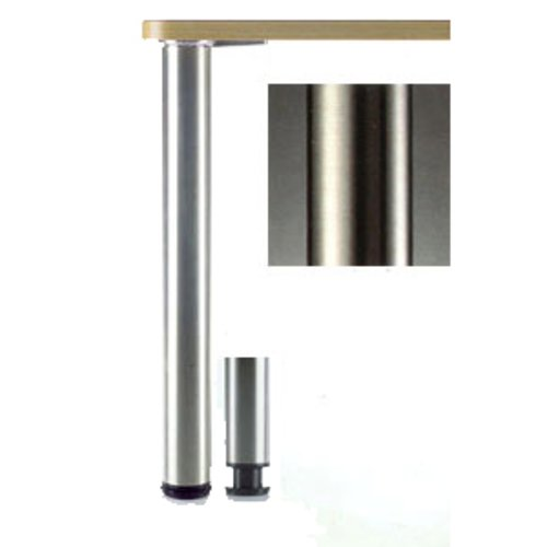 "Peter Meier Heidelberg Table Leg Set Brushed Steel 27-3/4""H 620-70-ST"