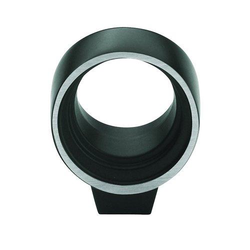 Amerock Sonara Knob 1-1/16 inch Diameter Silvered Black BP53045SBK