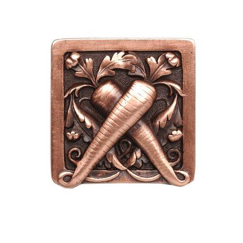 Notting Hill Kitchen Garden 1-1/2 Inch Diameter Antique Copper Cabinet Knob NHK-252-AC