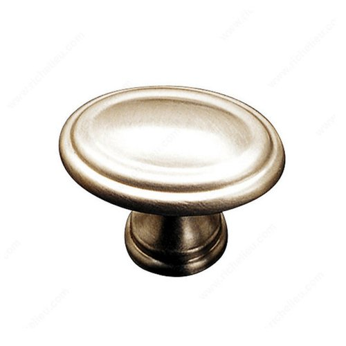 Richelieu Contemporary Classics 1-3/16 Inch Diameter Satin Nickel Cabinet Knob 16330185