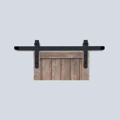 Acorn Manufacturing Designer Barn Door Rolling Hardware & 7' Track Rough Iron BH7BI-7