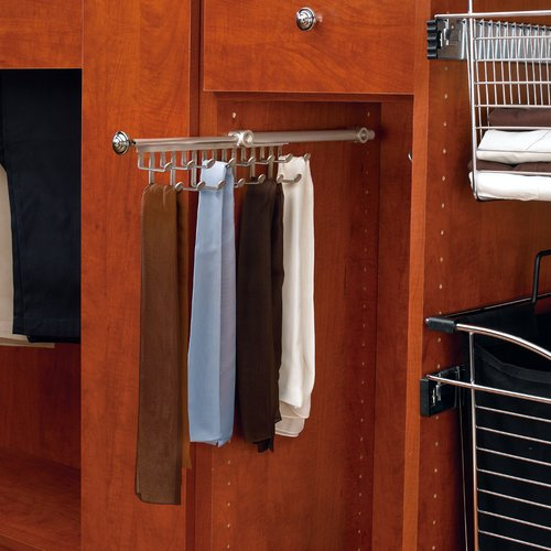 Rev-A-Shelf Tie/Scarf 12 inch Organizer Satin Nickel CTR-12-SN