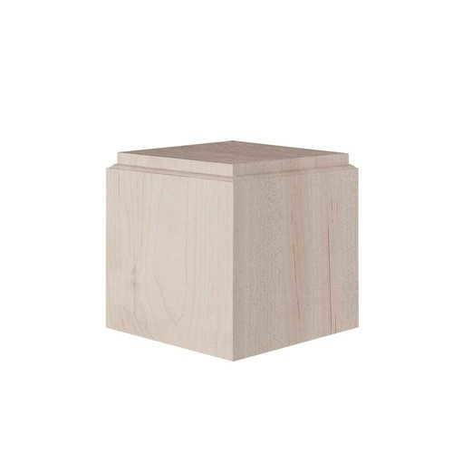 Brown Wood Small Square Bun Foot Unfinished Hard Maple 01705510HM1